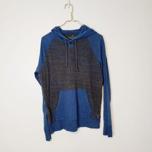 American Eagle Outfitters Blue Gray Hooded Raglan